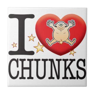 Chunks Love Man Small Square Tile