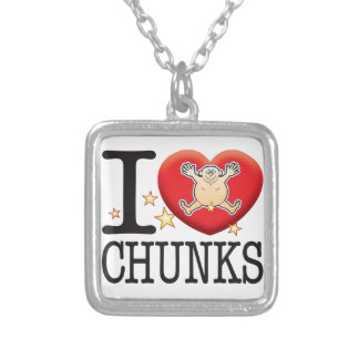 Chunks Love Man Square Pendant Necklace