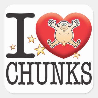 Chunks Love Man Square Sticker