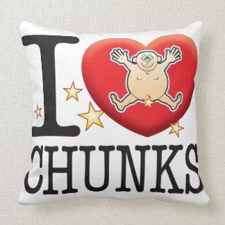 Chunks Love Man Throw Pillows