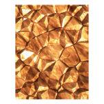 Chunks of Gold Nuggets Background Custom Letterhead