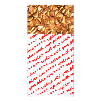 Chunks of Gold Nuggets Background Photo Card Template