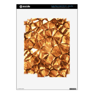 Chunks of Gold Nuggets Background Skin For iPad 3