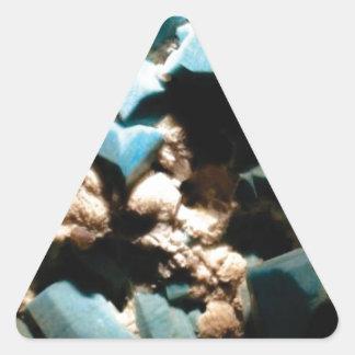 chunks of hard blue triangle sticker