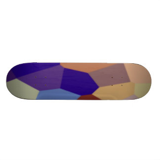 Chunky Blocks in Dark Colors Skateboard