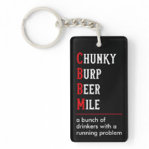 Chunky Burp Beer Mile Event Promo Swag Keychain