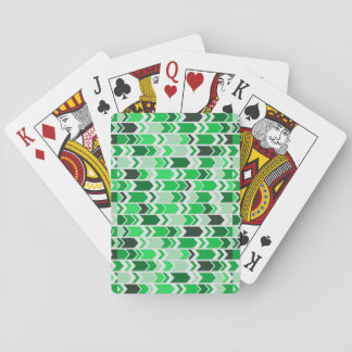 Chunky Chevron Arrows Green & White Playing Cards