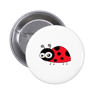 Chunky Cute Ladybug Ladybird Coccinellidae Button