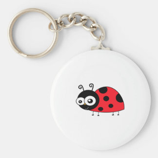 Chunky Cute Ladybug Ladybird Coccinellidae Keychain