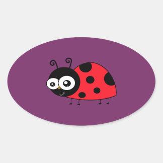 Chunky Cute Ladybug Ladybird Coccinellidae Oval Sticker