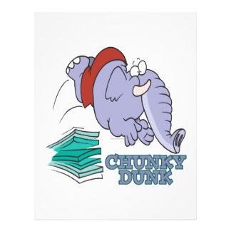 chunky dunk funny diving elephant custom flyer