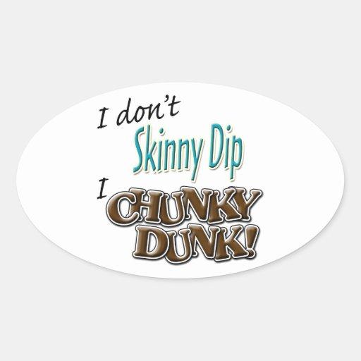 Chunky Dunk Oval Sticker