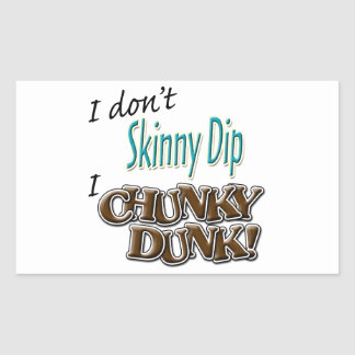 Chunky Dunk Rectangle Stickers