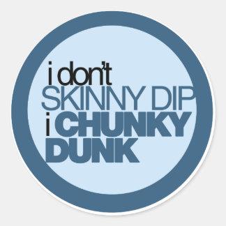 Chunky Dunk Round Sticker