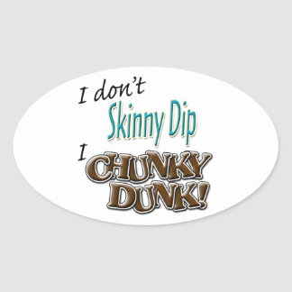 Chunky Dunk Oval Stickers