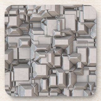 Chunky Heavy Metal Cubes Drink Coaster