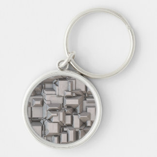 Chunky Heavy Metal Cubes Keychains