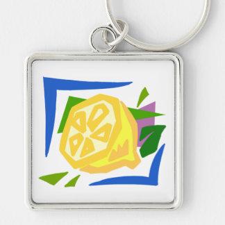 Chunky Lemon Graphic Lemons Keychain