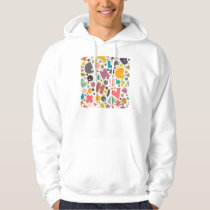 Chunky Letters Design Hoodie
