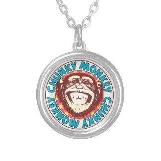 Chunky Monkey Round Pendant Necklace