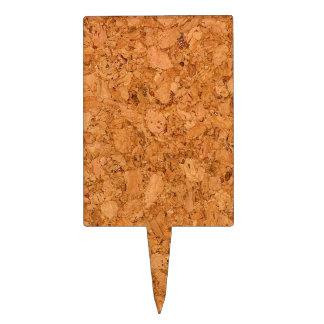 Chunky Natural Cork Wood Grain Look Cake Topper