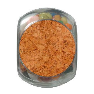 Chunky Natural Cork Wood Grain Look Glass Jars