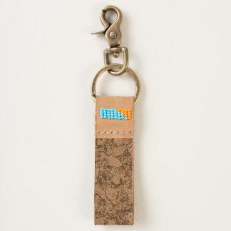 Chunky Natural Cork Wood Grain Look Keychain