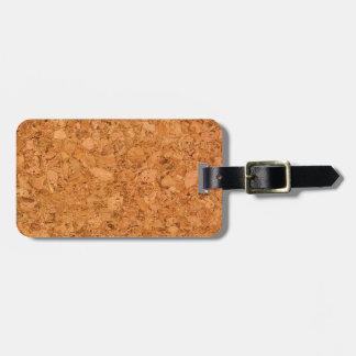 Chunky Natural Cork Wood Grain Look Luggage Tag