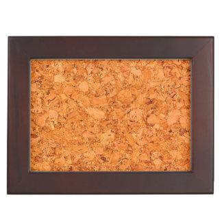 Chunky Natural Cork Wood Grain Look Memory Box