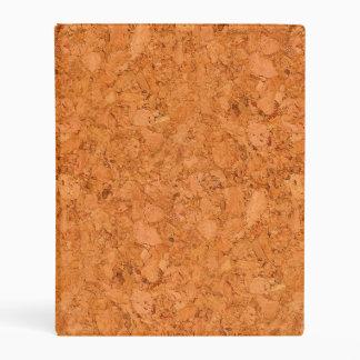 Chunky Natural Cork Wood Grain Look Mini Binder