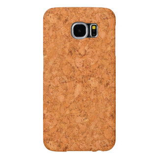 Chunky Natural Cork Wood Grain Look Samsung Galaxy S6 Case