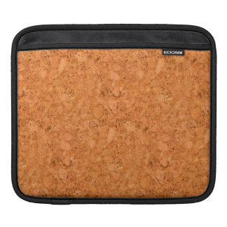 Chunky Natural Cork Wood Grain Look Sleeve For iPads