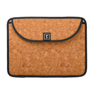 Chunky Natural Cork Wood Grain Look Sleeve For MacBook Pro
