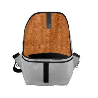 Chunky Natural Cork Wood Grain Look Small Messenger Bag