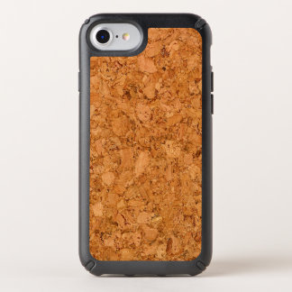 Chunky Natural Cork Wood Grain Look Speck iPhone Case