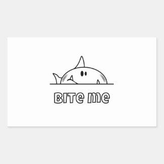 Chunky Shark Bite Me Rectangular Sticker