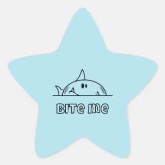 Chunky Shark Bite Me Star Sticker