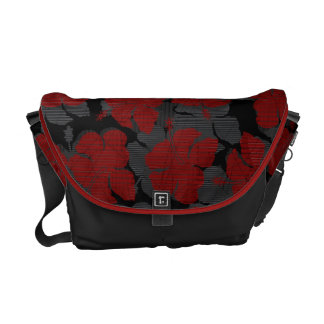 Chun's Reef Hawaiian Hibiscus Messenger Bag