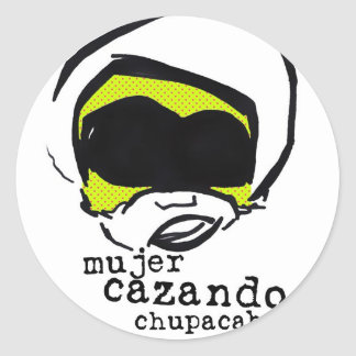 chupa chica classic round sticker