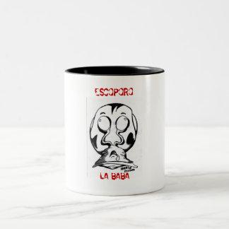 CHUPA ME LA BABA, ESCOPORO, LA BABA Two-Tone COFFEE MUG