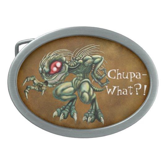 Chupa-what? Chupacabra Oval Belt Buckle