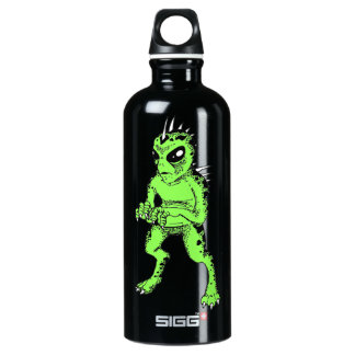 Chupacabra Black and Lime Green Water Boittle Water Bottle