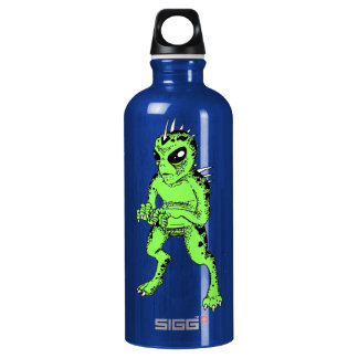 Chupacabra Blue and Lime Green Water Boittle Water Bottle
