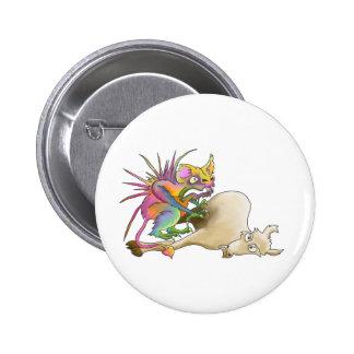 Chupacabra (Cabra-lechón) Pin Redondo De 2 Pulgadas