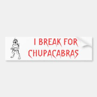 Chupacabra Pegatina De Parachoque
