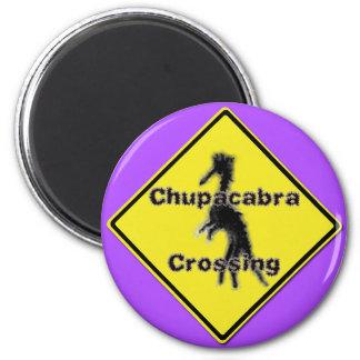 Chupacabra Crossing purple magnet