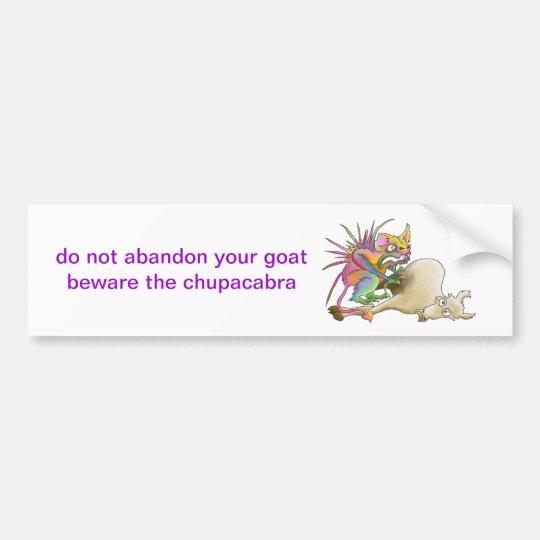 Chupacabra (Goat-sucker) Bumper Sticker
