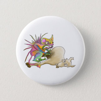 Chupacabra (Goat-sucker) Pinback Button