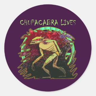 Chupacabra Lives Classic Round Sticker