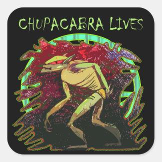 Chupacabra Lives Square Sticker